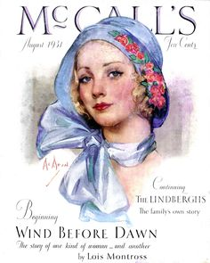 McCall's Magazine cover from August 1931 by American Illustrator Neysa McMein (1888 - 1949)