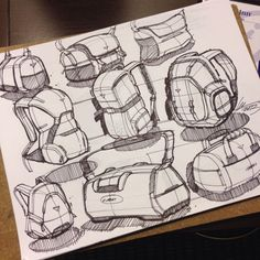 Bags sketches by Spencer Nugent.