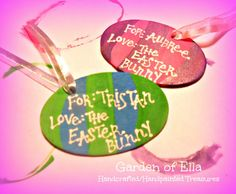 Easter basket gift tags personalized from garden of ella for 3 easter basket gift tags personalized from garden of ella for 3 on square market pinterest negle Images