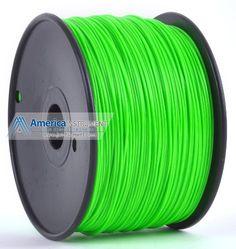 Jet - ABS Filament 1kg (=2.2 lbs) on Spool for 3D Printer Makerbot, Reprap, Makergear, Ultimaker, Up!, etc. - USA (3.00mm, Green)