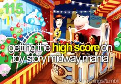 getting the high score on toy story midway mania