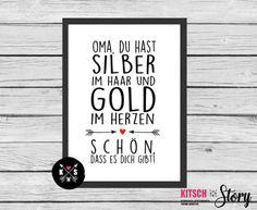 Digitaldruck - ★ Poster ★ Oma / Opa ★ Geschenk ★ - ein Designerstück von…