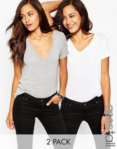 ASOS TALL The New Forever T-Shirt 2 Pack Save 15%