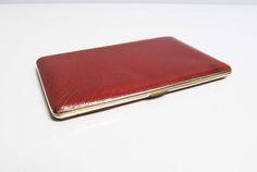 Vintage Cigarette Case holder in brown vinyl or leather, mad men, smoker, business card case, credit card case Kincraft England by EbyVintage on Etsy