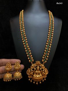 Gold Jewelry Design In India Gold Temple Jewellery, 1 Gram Gold Jewellery, Gold Jewellery Design, Gold Jewelry, Gold Necklace, Pandora Necklace, Mens Jewellery, Buy Jewellery Online, Jewellery Earrings