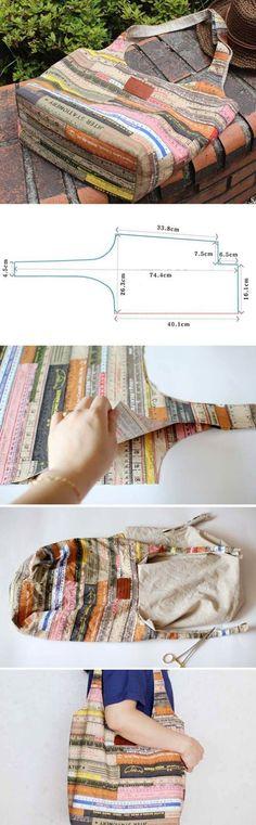 Easy Fabric Hobo Tote Bag sewing pattern & tutorial http://www.handmadiya.com/2016/10/hobo-shoulder-bag.html