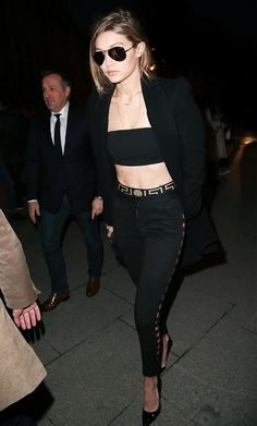 Sally Lapointe Double Splittable Wool Tailored Coat; Ray-Ben Rb3025 Mirrored Aviator Sunglasses; Versace Iconic Perizoma Underwear;