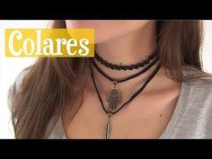 DIY: 2 modelos de gargantilha - choker - YouTube