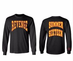 b1eab31596a1 Drake Summer Sixteen Revenge Long Sleeve T-Shirt Culture 2019 Collection