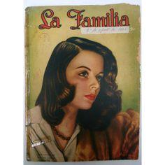 Vintage magazine.Revista antigua. Revista mexicana.México.Mexican magazine.La Familia.1940s magazine.Collectible.Christmas gift. Gift. Rare ($28) found on Polyvore