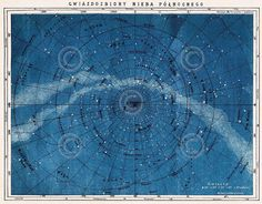 Astronomy Map Northern Constellations Vintage Reproduction Print Poster 11x14