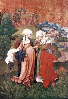 Encuentro de María e Isabel. Anónimo húngaro.