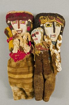 Peruvian grave dolls, 1000-1500 AD late 20th century