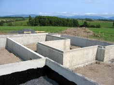 What I have now taken to calling the Vermont Plat House is progressing quickly. The concrete . House Foundation, Vermont, Concrete, Places, Lugares