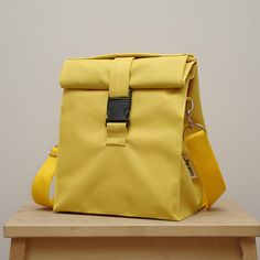 lunch bag with strap Lunch bag insulated yellow lunch bag men lunch bag for women lunch bag adult ba