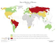 Femicide is becoming a regional problem in several areas of the world. See more of our maps at: http://womanstats.org/newmapspage.html