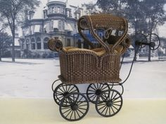 MADE TO ORDER Miniature Wicker Sleeping Coach for от Wickerville