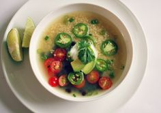 Spicy Black Bean + Quinoa Soup