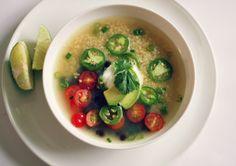 soups, black beans, quinoa soup, food, spici black, healthi, recip, winter soup, green onions