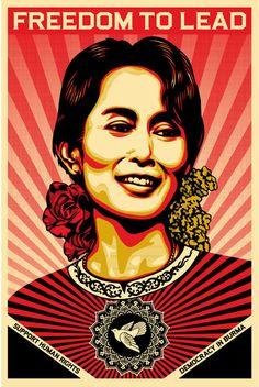 Aung San Suu Kyi. Visit my kickstarter campaign and Pledge! http://kck.st/R83jmC