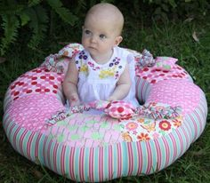 Sit Me Up Donut - by Paula Storm Designs - Baby Cushion Pattern