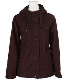 Ride Greenwood snowboard jacket - black currant.