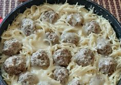 Carbonara spagetti húsgolyóval Food And Drink, Cooking, Recipes, Ground Meat, Kitchen, Ripped Recipes, Brewing, Cuisine
