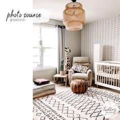 Baby Bedroom, Baby Room Decor, Nursery Room, Boy Room, Boho Nursery, Room Kids, Wall Paper Nursery, Giraffe Nursery, Babies Nursery