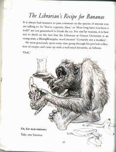 Librarians in literature.The Librarian's Recipe - featuring Terry Pratchett's Librarian Discworld Characters, Terry Pratchett Discworld, Cyberpunk, Fangirl, Literature, Fiction, Sci Fi, Novels, Lion Sculpture