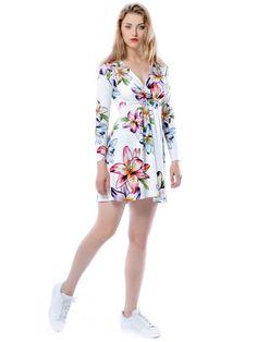 Magdalena Mini Hypnotic Lily - sukienka mini z kwiatowym printem