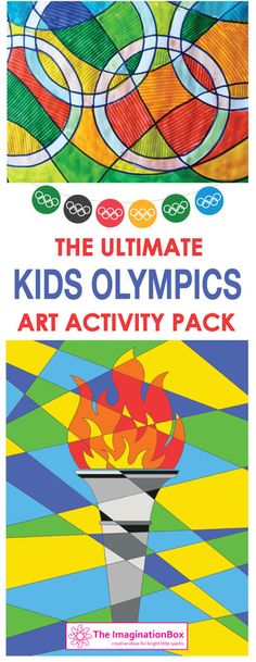 This fun 41 page Rio Olympics instant download bumper creative art activity pack for kids is ideal for classroom/homeschool use, Olympic themed parties, party bag fillers and holiday entertainment. A detailed resource pack designed to enthuse and engage children in a fun, experimental way and to encourage the exploration of colour, shape, abstract pattern and graphic design, whilst learning about sport, the Olympic games and Brazil
