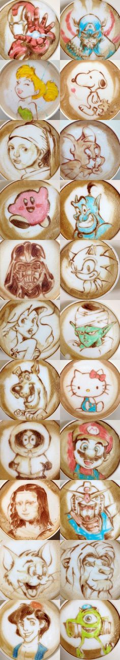 All Kinds of  Creative Latte Arts ❤☕