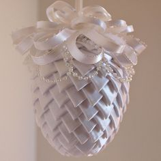 Ribbon Christmas Ornament by NancysWorkshop on Etsy