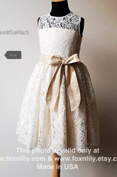 Flower girl dress...maybe with a colorful sash
