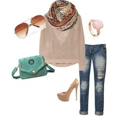 Cream, created by jelli628 on Polyvore