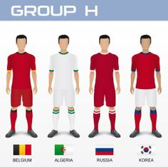 [WC 2014] Bảng H: Bỉ, Nga, Algeria, Hàn Quốc