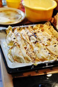 palacinke 3 s Crepe Recipes, Dessert Recipes, Macedonian Food, Kolaci I Torte, Serbian Recipes, Food Garnishes, Chicken And Dumplings, Sweet Recipes, Food To Make