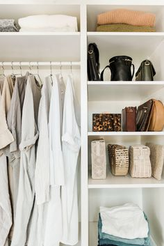 Bright and airy closet makeover reveal with Shira Gill