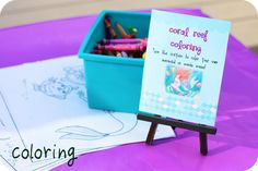 Coral Reef Coloring Station