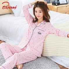 Bejirog bedgown button pajama set for women sleepwear 2 piece homewear plus size female pyjama suit in autumn pink nighty Black Skirt Outfits, Winter Skirt Outfit, Night Suit, Night Gown, Sleepwear Women, Pajamas Women, Pink Silk Pajamas, Pajama Suit, Korean Dress