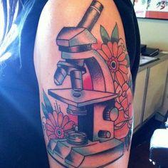 Microscope tattoo by Luis Keys   Yelp