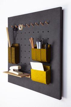 Büromöbel - SET Wandpaneel *mairaum* DUNKELGRAU + GRÜN - ein Designerstück von mairaum bei DaWanda