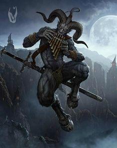 Is that you, Krampus? My Fantasy World, Dark Fantasy Art, Fantasy Rpg, Dark Art, Mentor Espiritual, Vampires, Ange Demon, Arte Horror, Satyr