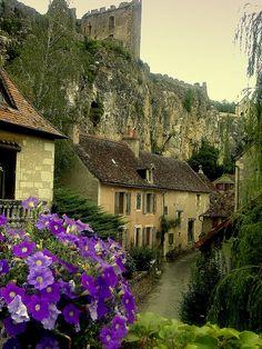 Aquellas flores de color violeta. Angles, Poitou-Charentes, France.