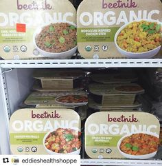 @eddieshealthshoppe has about every flavor in stock! Go visit them. They have so many amazing and healthy products!  #Repost @eddieshealthshoppe  When Eddie's has every type of Beetnik meal in stock  These are so great for easy meal prep especially with the holidays right around the corner and with all the activities travel family and cooking that can go along with it!  Try them if you're looking for yummy organic meals on the go! #eddieshealthshoppe #health #fitness #mealprep #foodprep…