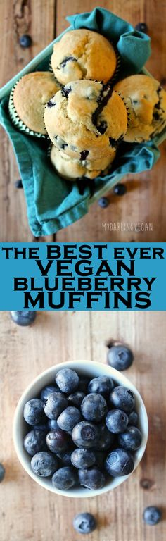 These vegan blueberry muffins are the perfect combination of sweet flaky buttery and zesty.