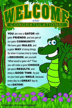 Use this gator mascot to promote your school's PBIS or character education program. The cartoon alligator clipart images portray positive character traits Classroom Resources, Classroom Themes, Beginning Of School, Back To School, Swamp Theme, School Bulletin Boards, Student Council, Character Education, Pta