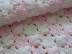 Precious Baby Girl Blanket New Hand Crocheted by DEMET on Etsy, $140.00