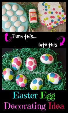 Decorating Easter Eggs with Mod Podge and some pretty party napkins from @ALL YOU Magazine  #lifeforless #PMedia #ad