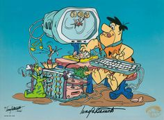 Yabadaba Do - Flintstones Technology. In Box Message: You've got Clay Tablets.